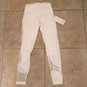 LuluLemon White mesh Leggings
